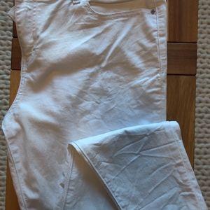 Jennifer Lopez Skinny Ankle White Pant Sz 12